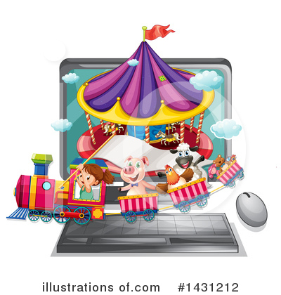 Carousel Clipart #1431212 by Graphics RF