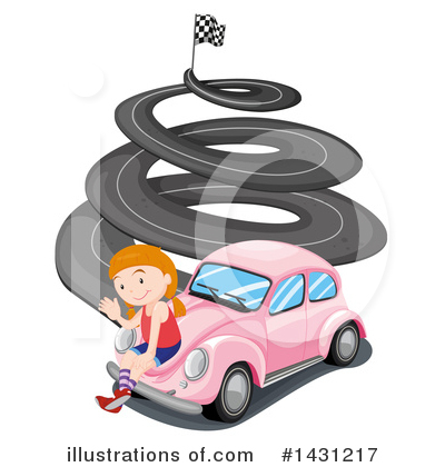 Race Track Clipart #1431217 by Graphics RF