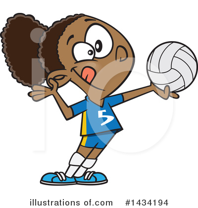 Volleyball Clipart #1434194 by toonaday