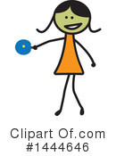Girl Clipart #1444646 by ColorMagic