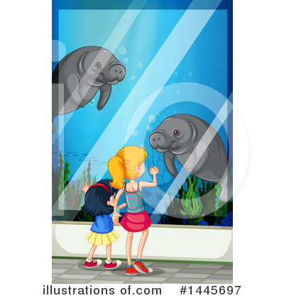Manatee Clipart #1445697 by Graphics RF