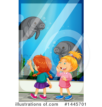 Manatee Clipart #1445701 by Graphics RF
