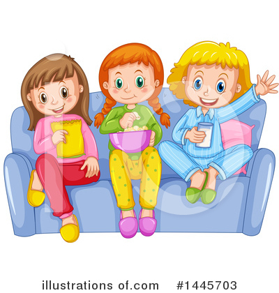 Royalty-Free (RF) Girl Clipart Illustration by Graphics RF - Stock Sample #1445703