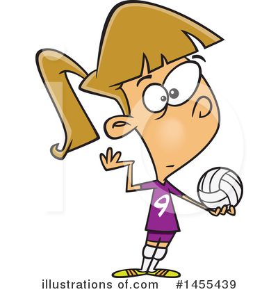 Volleyball Clipart #1455439 by toonaday