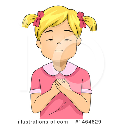 Praying Clipart #1464829 by BNP Design Studio
