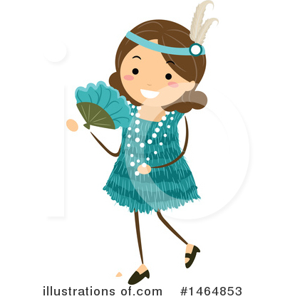 Flapper Girl Clipart #1464853 by BNP Design Studio
