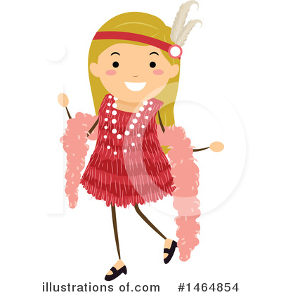 Flapper Girl Clipart #1464854 by BNP Design Studio