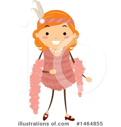 Flapper Girl Clipart #1464855 by BNP Design Studio