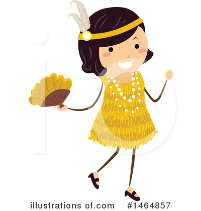 Flapper Girl Clipart #1464857 by BNP Design Studio