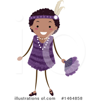 Flapper Girl Clipart #1464858 by BNP Design Studio