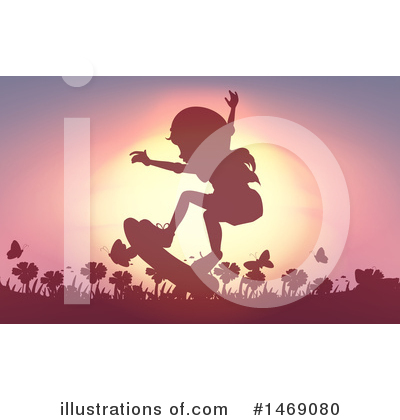 Skateboarding Clipart #1469080 by Graphics RF