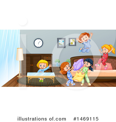 Pillow Fight Clipart #1469115 by Graphics RF