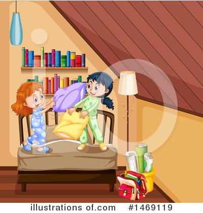 Pillow Fight Clipart #1469119 by Graphics RF