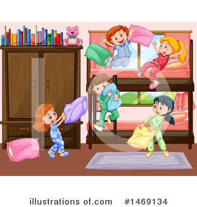 Pillow Fight Clipart #1469134 by Graphics RF