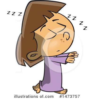 Sleeping Clipart #1473757 by toonaday