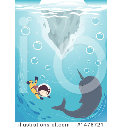 Narwhal Clipart #1478721 by BNP Design Studio