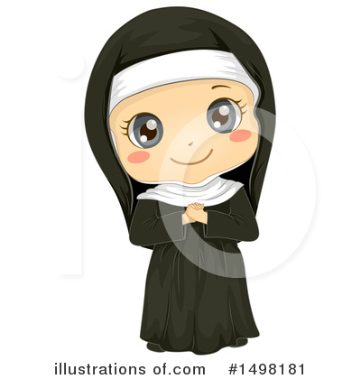 Nun Clipart #1498181 by BNP Design Studio