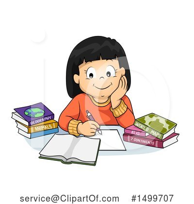 Homework Clipart #1499707 by BNP Design Studio
