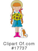 Royalty-Free (RF) Girl Clipart Illustration #17737