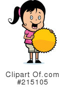 Royalty-Free (RF) Girl Clipart Illustration #215105