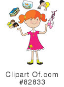 Royalty-Free (RF) Girl Clipart Illustration #82833