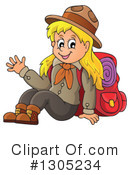 Royalty-Free (RF) Girl Scout Clipart Illustration #1305234