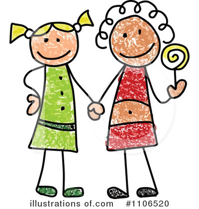 Friends Clipart #1106520 by C Charley-Franzwa