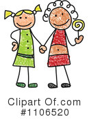 Girls Clipart #1106520 by C Charley-Franzwa