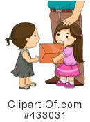 Royalty-Free (RF) giving Clipart Illustration #433031