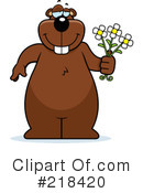 Royalty-Free (RF) Giving Flowers Clipart Illustration #218420