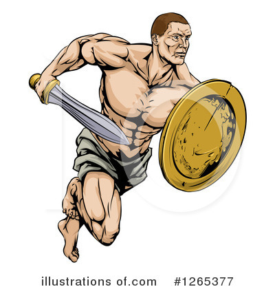 Soldier Clipart #1265377 by AtStockIllustration