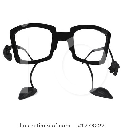 Glasses Character Clipart #1278222 by Julos