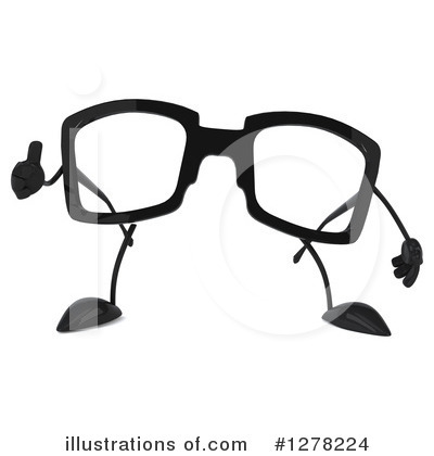 Royalty-Free (RF) Glasses Character Clipart Illustration by Julos - Stock Sample #1278224