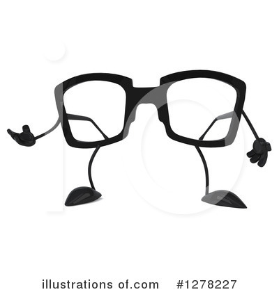 Glasses Character Clipart #1278227 by Julos