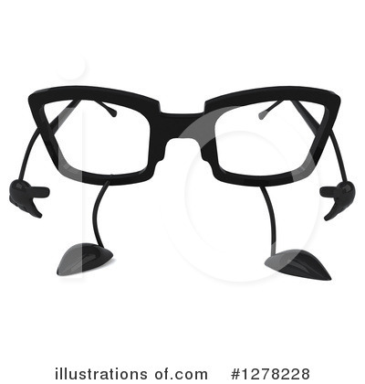 Glasses Character Clipart #1278228 by Julos