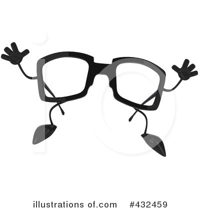 Glasses Character Clipart #432459 by Julos