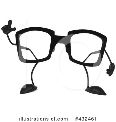 Glasses Character Clipart #432461 by Julos
