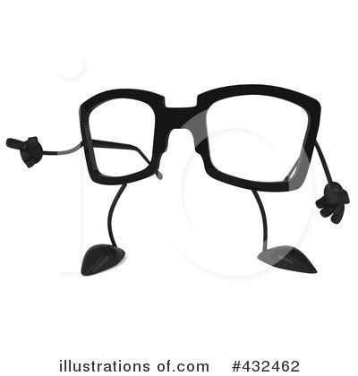 Glasses Character Clipart #432462 by Julos