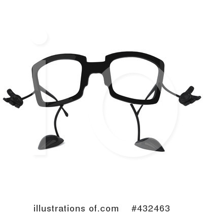 Glasses Character Clipart #432463 by Julos