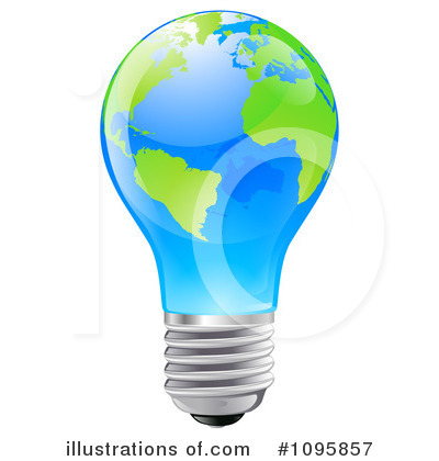 Light Bulb Clipart #1095857 by AtStockIllustration
