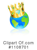 Royalty-Free (RF) Globe Clipart Illustration #1108701