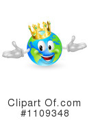 Royalty-Free (RF) globe Clipart Illustration #1109348