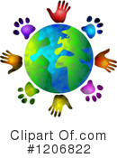 Royalty-Free (RF) Globe Clipart Illustration #1206822
