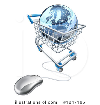 Shopping Cart Clipart #1247165 by AtStockIllustration