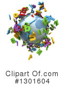 Royalty-Free (RF) Globe Clipart Illustration #1301604