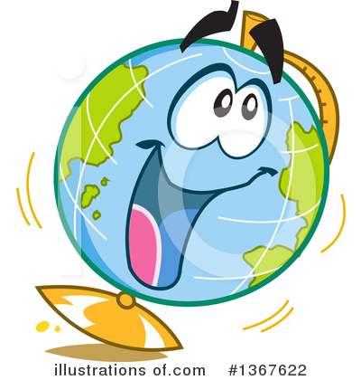 Royalty-Free (RF) Globe Clipart Illustration by Clip Art Mascots - Stock Sample #1367622
