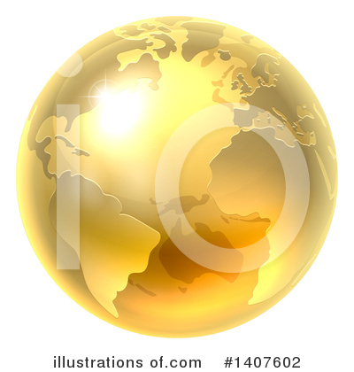 Globe Clipart #1407602 by AtStockIllustration