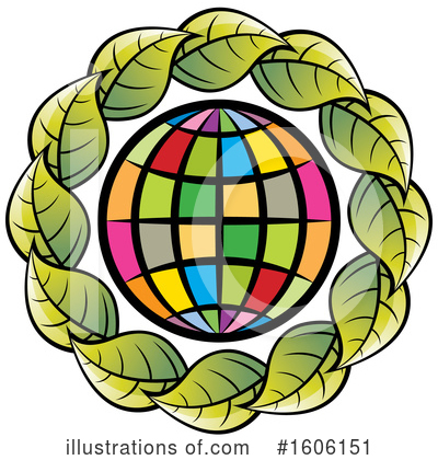 Globe Clipart #1606151 by Lal Perera