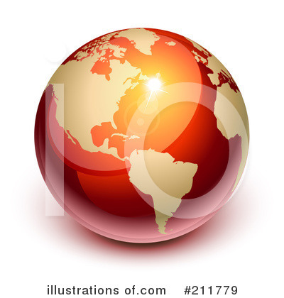 Royalty-Free (RF) Globe Clipart Illustration by Oligo - Stock Sample #211779