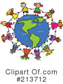 Royalty-Free (RF) Globe Clipart Illustration #213712